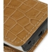 Sony Ericsson Xperia X10 Mini Leather Sleeve Pouch Case (Brown Croc) genuine leather case by PDair