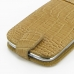 Samsung Galaxy S3 Leather Flip Top Case (Brown Croc Pattern) handmade leather case by PDair