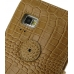 Samsung Galaxy S WiFi 5.0 Leather Flip Cover (Brown Croc) protective carrying case by PDair