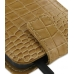 Samsung Galaxy S2 Epic Leather Flip Top Case (Brown Croc Pattern) handmade leather case by PDair