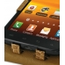 Samsung Galaxy S2 Epic Leather Flip Top Case (Brown Croc Pattern) genuine leather case by PDair