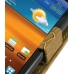 Samsung Galaxy S2 Epic Leather Flip Top Case (Brown Croc Pattern) top quality leather case by PDair