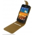 Samsung Galaxy S2 Epic Leather Flip Top Case (Brown Croc Pattern) custom degsined carrying case by PDair