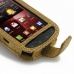 Samsung Droid Charge Leather Flip Case (Brown Croc Pattern) genuine leather case by PDair