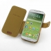 Samsung Galaxy S4 Leather Flip Cover (Brown Croc) top quality leather case by PDair