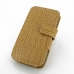 Samsung Galaxy S4 Leather Flip Cover (Brown Croc) offers worldwide free shipping by PDair
