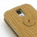 Samsung Galaxy S4 Leather Flip Top Case (Brown Croc Pattern) top quality leather case by PDair