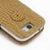 Samsung Galaxy Express Leather Flip Cover (Brown Croc) protective carrying case by PDair