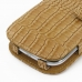 Samsung Galaxy Express Leather Flip Cover (Brown Croc) handmade leather case by PDair