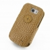 Samsung Galaxy Express Leather Flip Cover (Brown Croc) custom degsined carrying case by PDair