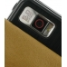 Samsung Omnia i908 i900 Leather Flip Case (Brown Croc Pattern) genuine leather case by PDair