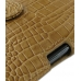Samsung Galaxy Note Leather Holster Case (Brown Croc Pattern) genuine leather case by PDair