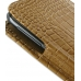Samsung Galaxy Note Leather Sleeve Pouch Case (Brown Croc Pattern) genuine leather case by PDair