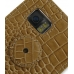 Samsung i8000 Omnia II Leather Flip Cover (Brown Croc) protective carrying case by PDair