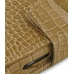 Samsung i8000 Omnia II Leather Flip Cover (Brown Croc) handmade leather case by PDair
