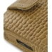 Samsung i8000 Omnia II Leather Flip Case (Brown Croc Pattern) genuine leather case by PDair