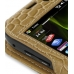 Samsung i8000 Omnia II Leather Sleeve Case (Brown Croc Pattern) genuine leather case by PDair