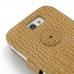 Samsung Galaxy Note 2 Leather Flip Cover (Brown Croc) protective carrying case by PDair