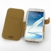 Samsung Galaxy Note 2 Leather Flip Cover (Brown Croc) top quality leather case by PDair