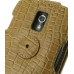 Samsung Galaxy Nexus Leather Flip Top Case (Brown Croc Pattern) protective carrying case by PDair