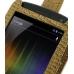 Samsung Galaxy Nexus Leather Flip Top Case (Brown Croc Pattern) genuine leather case by PDair