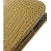 Samsung Galaxy Nexus Pouch Case with Belt Clip (Brown Croc Pattern) genuine leather case by PDair