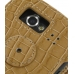 Samsung Google Nexus S Leather Flip Cover (Brown Croc) protective carrying case by PDair