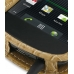 Samsung Google Nexus S Leather Flip Cover (Brown Croc) handmade leather case by PDair