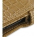 Samsung Google Nexus S Leather Flip Cover (Brown Croc) genuine leather case by PDair