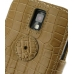 Samsung Galaxy S2 T989 Leather Flip Cover (Brown Croc) protective carrying case by PDair