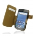 Samsung Galaxy S2 T989 Leather Flip Cover (Brown Croc) custom degsined carrying case by PDair
