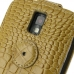 Samsung Galaxy S2 T989 Leather Flip Top Case (Brown Croc Pattern) protective carrying case by PDair
