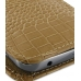 Samsung Galaxy S2 T989 Pouch Case with Belt Clip (Brown Croc Pattern) handmade leather case by PDair