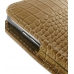 Samsung Galaxy S2 T989 Pouch Case with Belt Clip (Brown Croc Pattern) genuine leather case by PDair