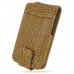 Sony Walkman NWZ-X1050 X1060 X1000 Leather Flip Case (Brown Croc) custom degsined carrying case by PDair