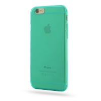Highly Transparent Soft Gel Plastic Case for Apple iPhone 6 | iPhone 6s (Aqua)
