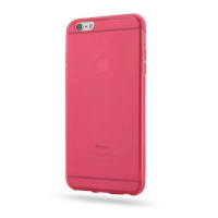 Highly Transparent Soft Gel Plastic Case for Apple iPhone 6 Plus | iPhone 6s Plus (Red)