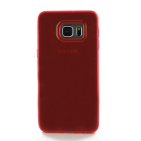 Highly Transparent Soft Gel Plastic Case for Samsung Galaxy S6 edge+ Plus (Red)