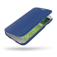 Casual Folio Cover Case for Samsung Galaxy S4 SIV LTE GT-i9500 GT-i9505 (Navy Blue)