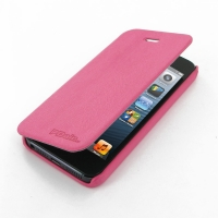 Casual Folio Cover Case for Apple iPhone 5 | iPhone 5s (Petal Pink)