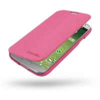 Casual Folio Cover Case for Samsung Galaxy S4 SIV LTE GT-i9500 GT-i9505 (Petal Pink)
