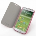Samsung Galaxy S4 Casual Folio Cover Case (Petal Pink) genuine leather case by PDair