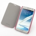 Samsung Galaxy Note 2 Casual Folio Cover Case (Petal Pink) genuine leather case by PDair