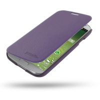 Casual Folio Cover Case for Samsung Galaxy S4 SIV LTE GT-i9500 GT-i9505 (Purple)