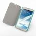 Samsung Galaxy Note 2 Casual Folio Cover Case (Aqua) genuine leather case by PDair