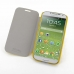 Samsung Galaxy S4 Casual Folio Cover Case (Yellow) handmade leather case by PDair