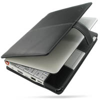 Leather Book Case for Acer Aspire one AOA-110 (Linux/8GB SSD) (Black)