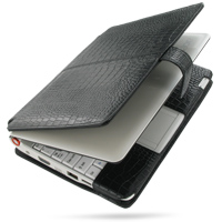 10% OFF + FREE SHIPPING, Buy PDair Handmade Protective Acer Aspire one AOA-110 with Extended Battery Genuine Leather Flip Cover (Black Croc) You also can go to the customizer to create your own stylish leather case if looking for additional colors, patter