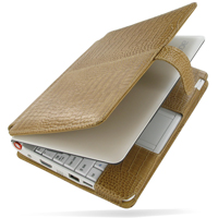 10% OFF + FREE SHIPPING, Buy PDair Handmade Protective Acer Aspire one AOA-110 with Extended Battery Genuine Leather Flip Cover (Brown Croc) You also can go to the customizer to create your own stylish leather case if looking for additional colors, patter