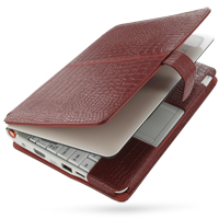 10% OFF + FREE SHIPPING, Buy PDair Handmade Protective Acer Aspire one AOA-110 with Extended Battery Genuine Leather Flip Cover (Red Croc) You also can go to the customizer to create your own stylish leather case if looking for additional colors, patterns